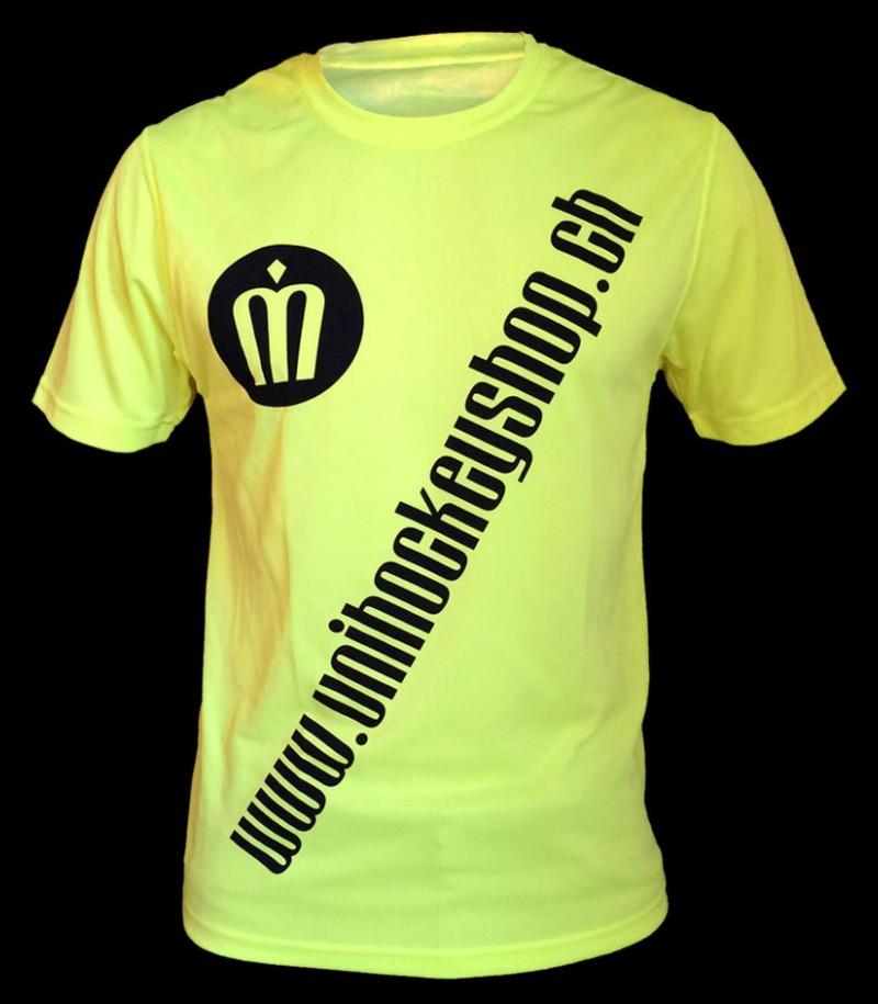 unihockeyshop.ch T-Shirt Badge Promo jaune-néon