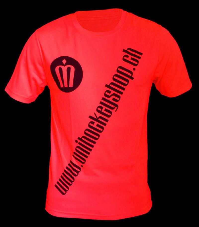 unihockeyshop.ch T-Shirt Badge Promo rouge