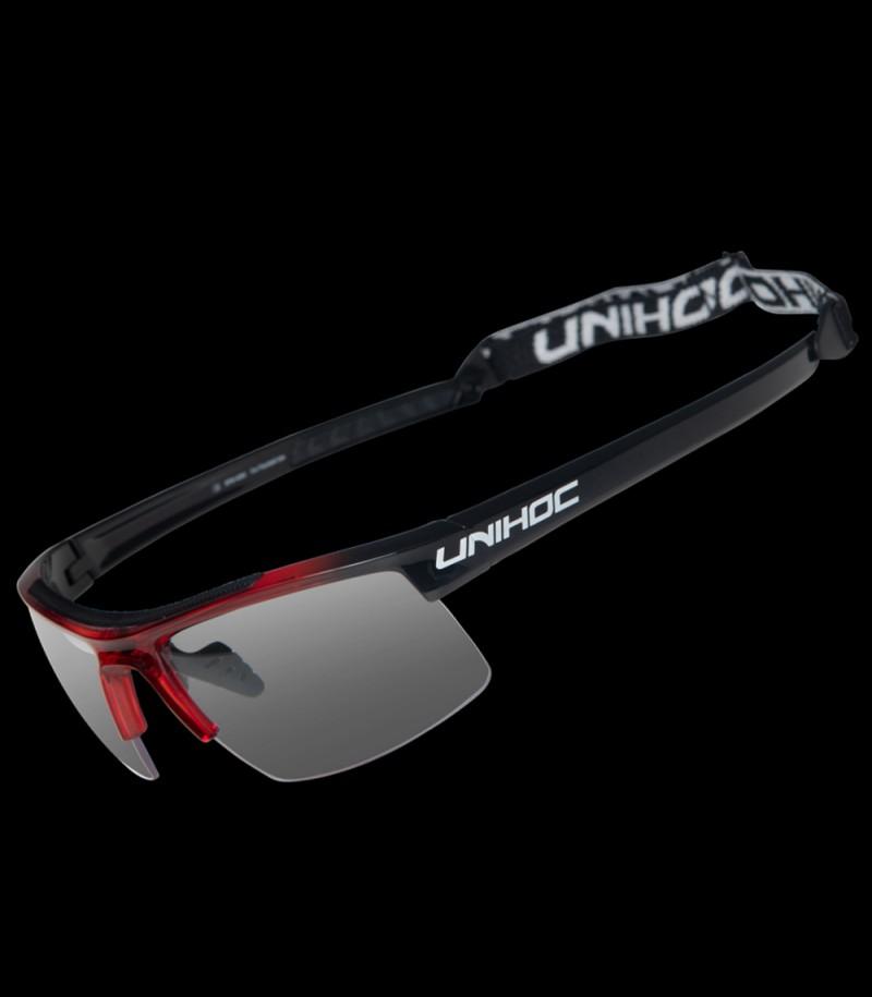 unihoc lunettes de sport Energy junior rouge/noir