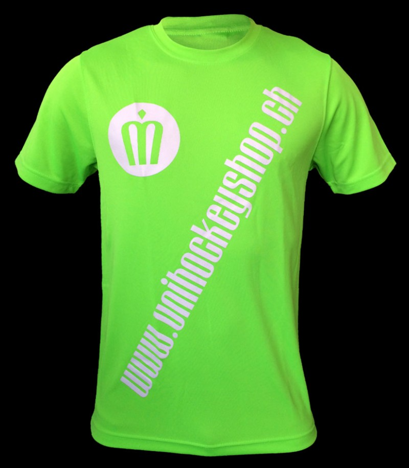 unihockeyshop.ch T-Shirt Badge Promo vert fluo