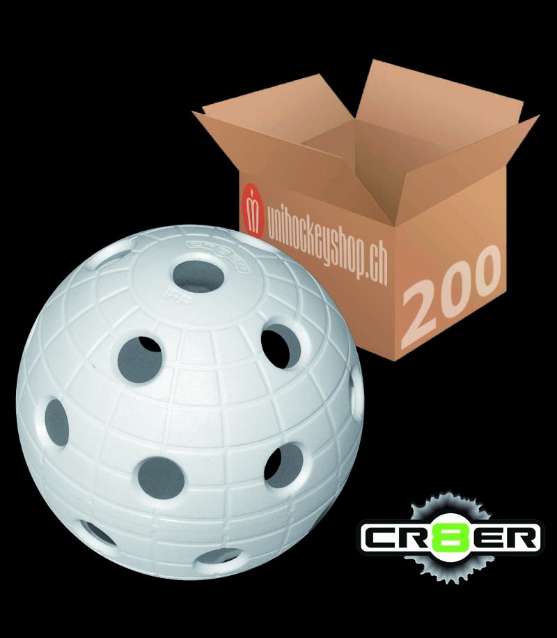 unihoc Balle de match CR8ER blanc (Lot de 200)