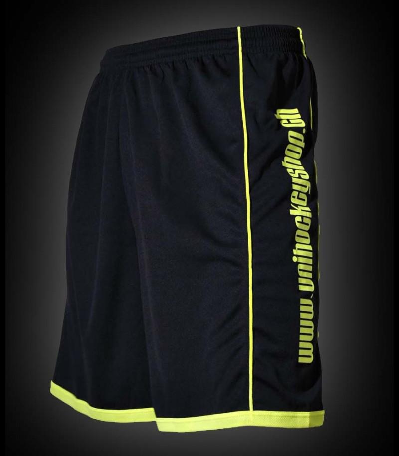 unihockeyshop.ch Bermudas Crown noir/jaune-néon