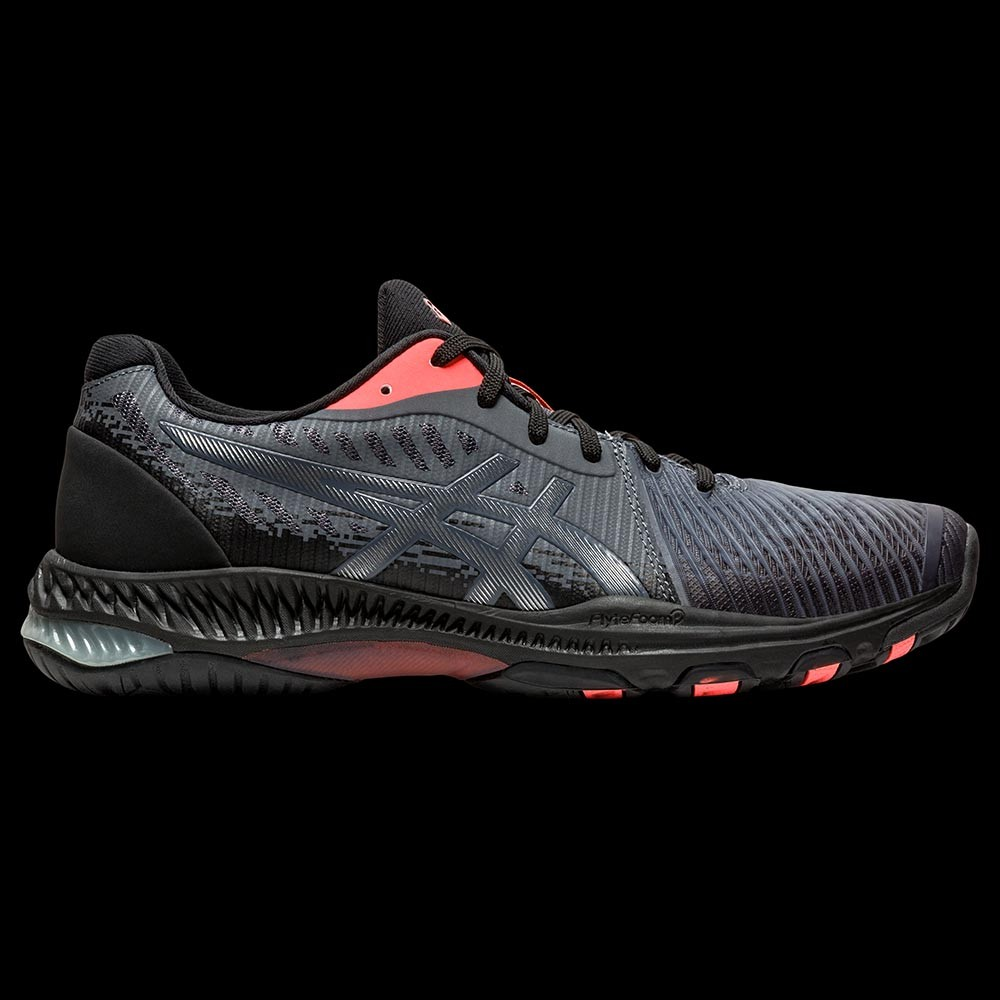 asics NETBURNER Ballistic black/sunrise red
