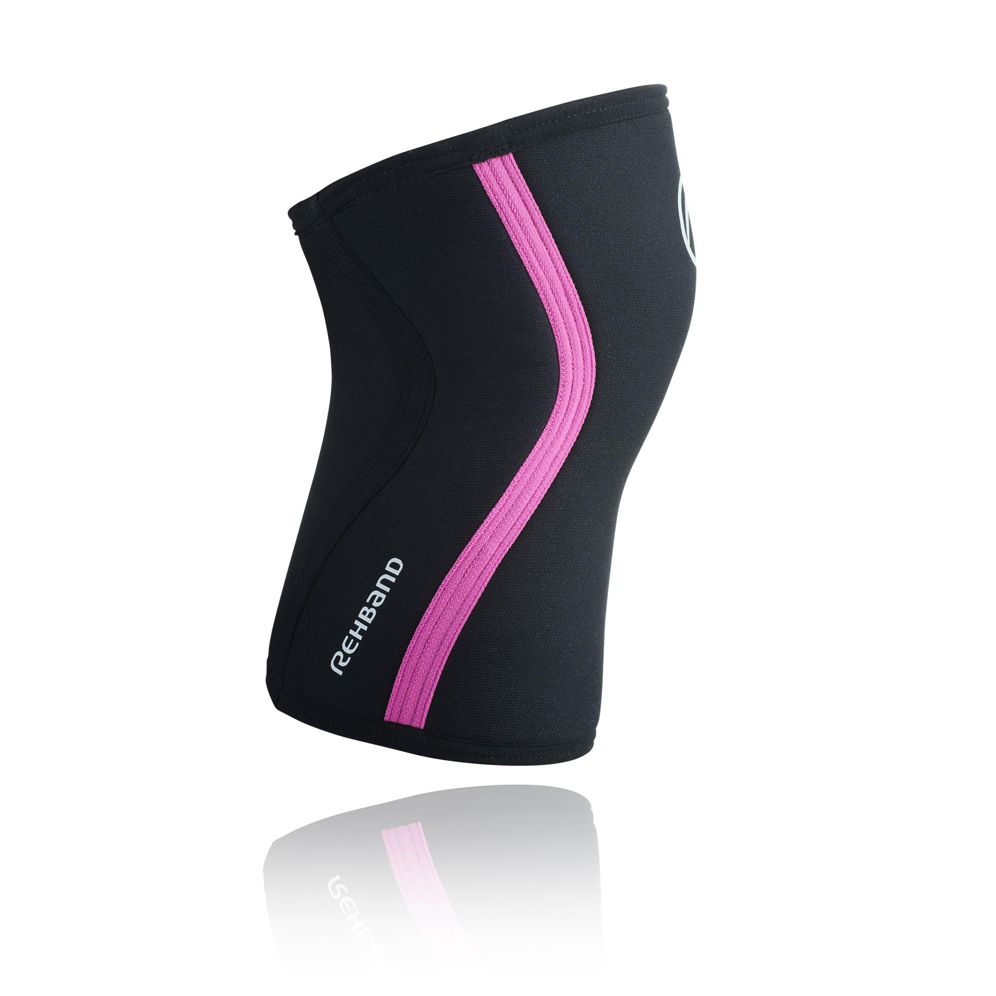 Rehband RX Kniebandage schwarz/pink 7mm