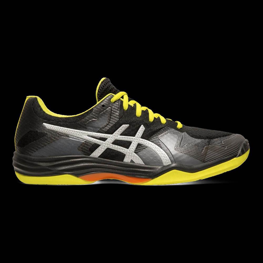 asics GEL-TACTIC black/silver/yellow