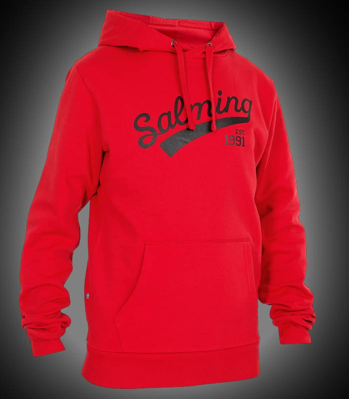 Salming Logo Hood red