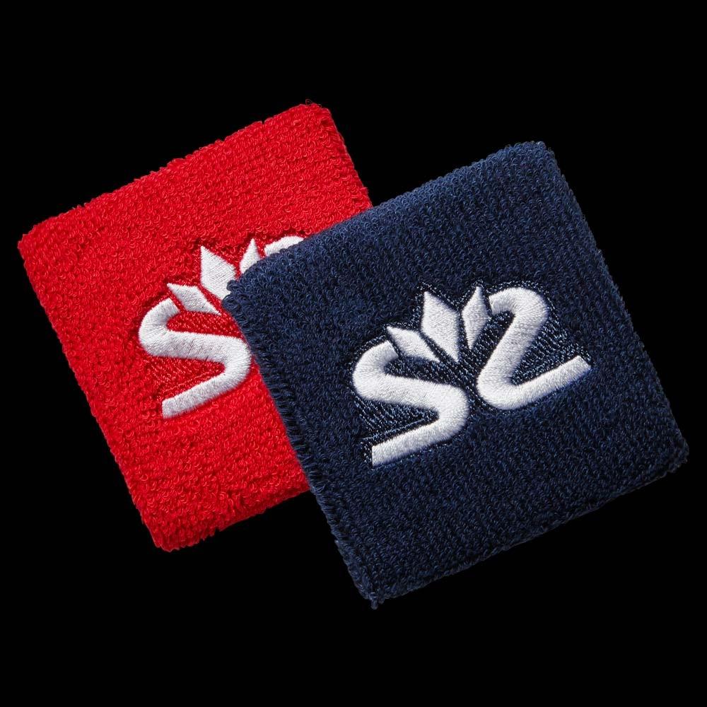 Salming Wristband Short red/dark blue (2-Pack)