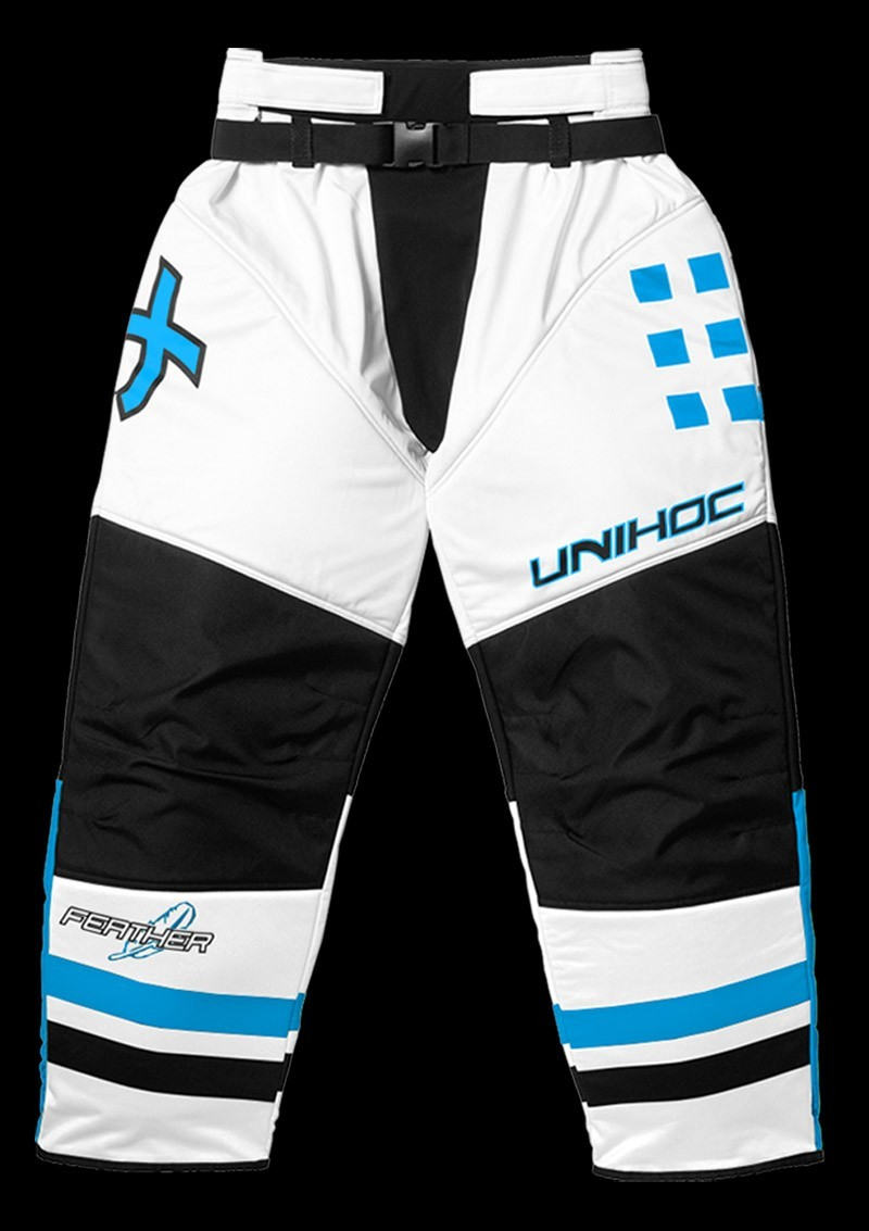 unihoc Goalieset Feather Junior white/blue