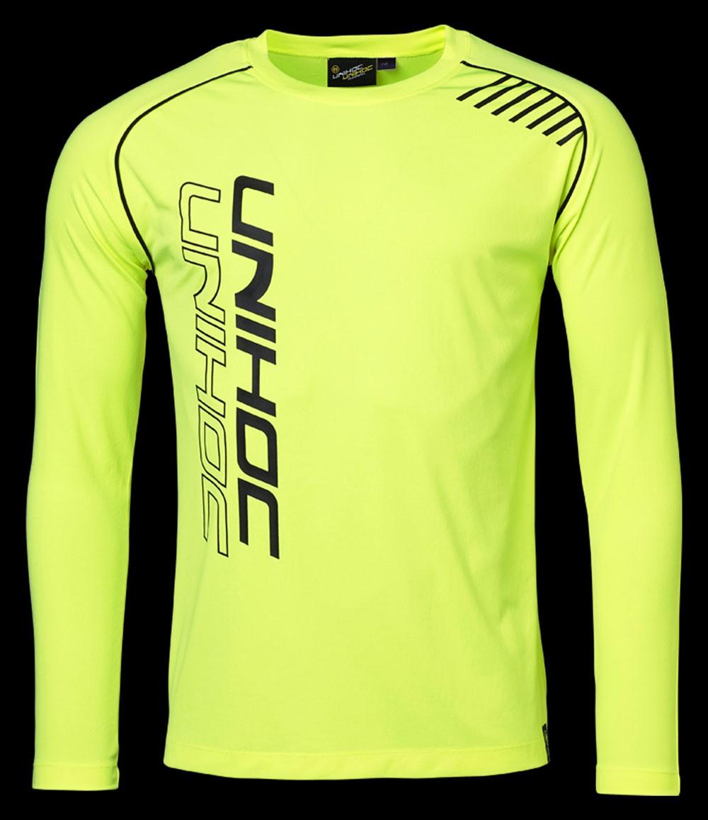 unihoc Warm-up Longsleeve Shirt neongelb