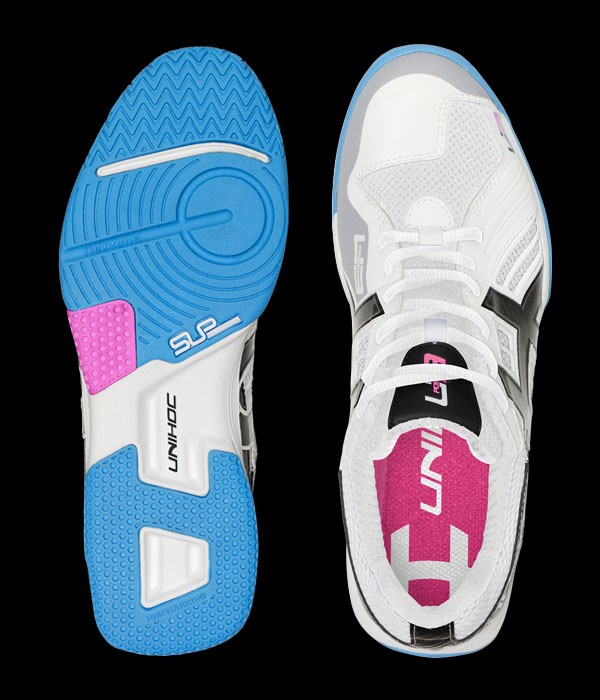 unihoc U3 Power Indoor Lady weiss/hellblau