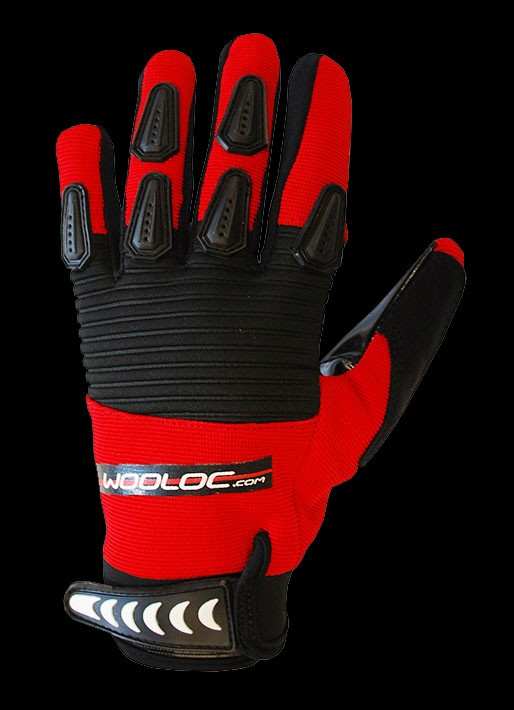 Wooloc Goaliehandschuhe Catch Junior red/black