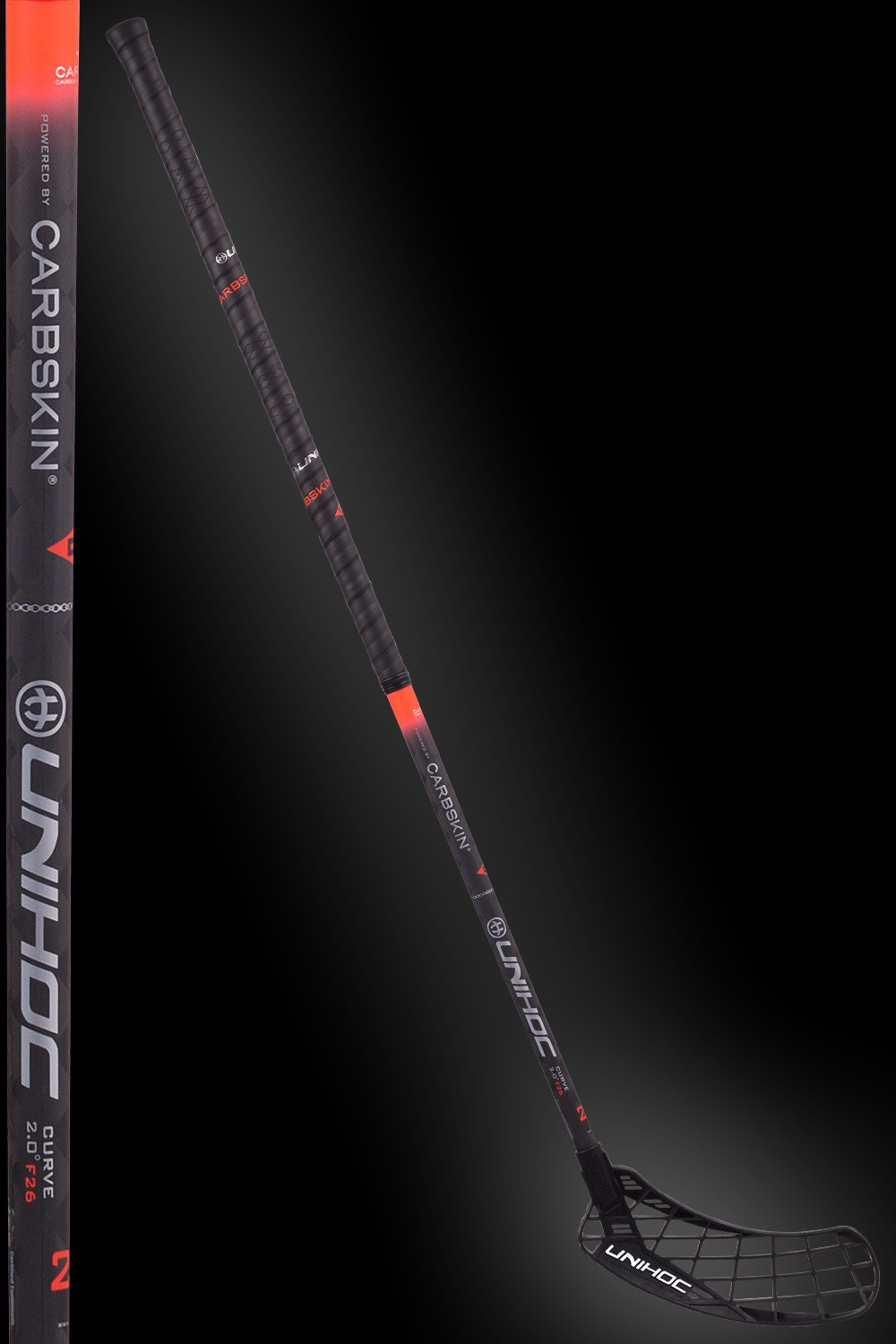 unihoc EPIC Carbskin Curve 2.0 26 black/red