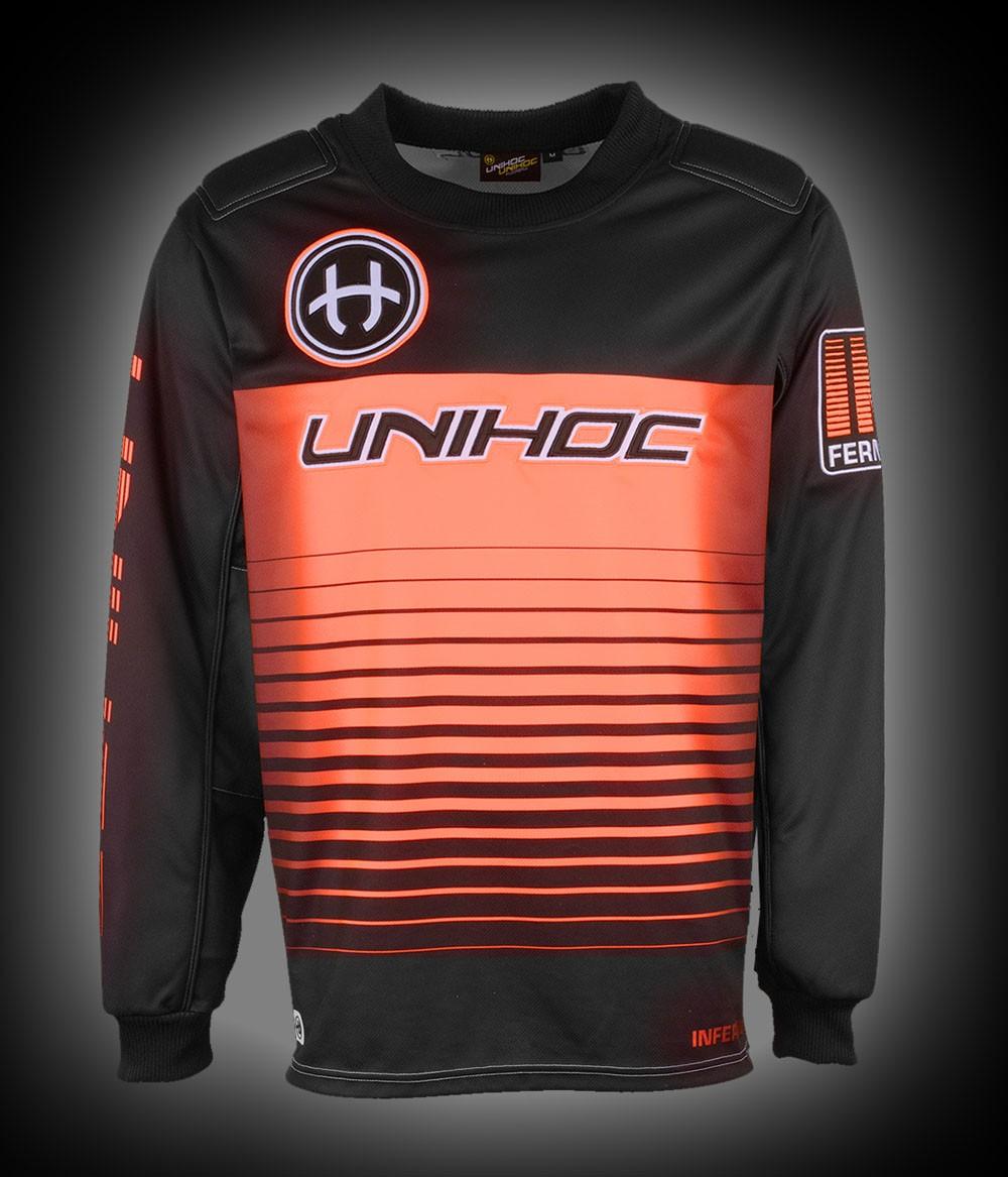 unihoc Goaliepullover Inferno Junior schwarz/neon orange