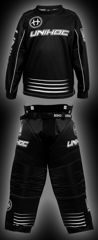 unihoc Goalieset Inferno Junior schwarz