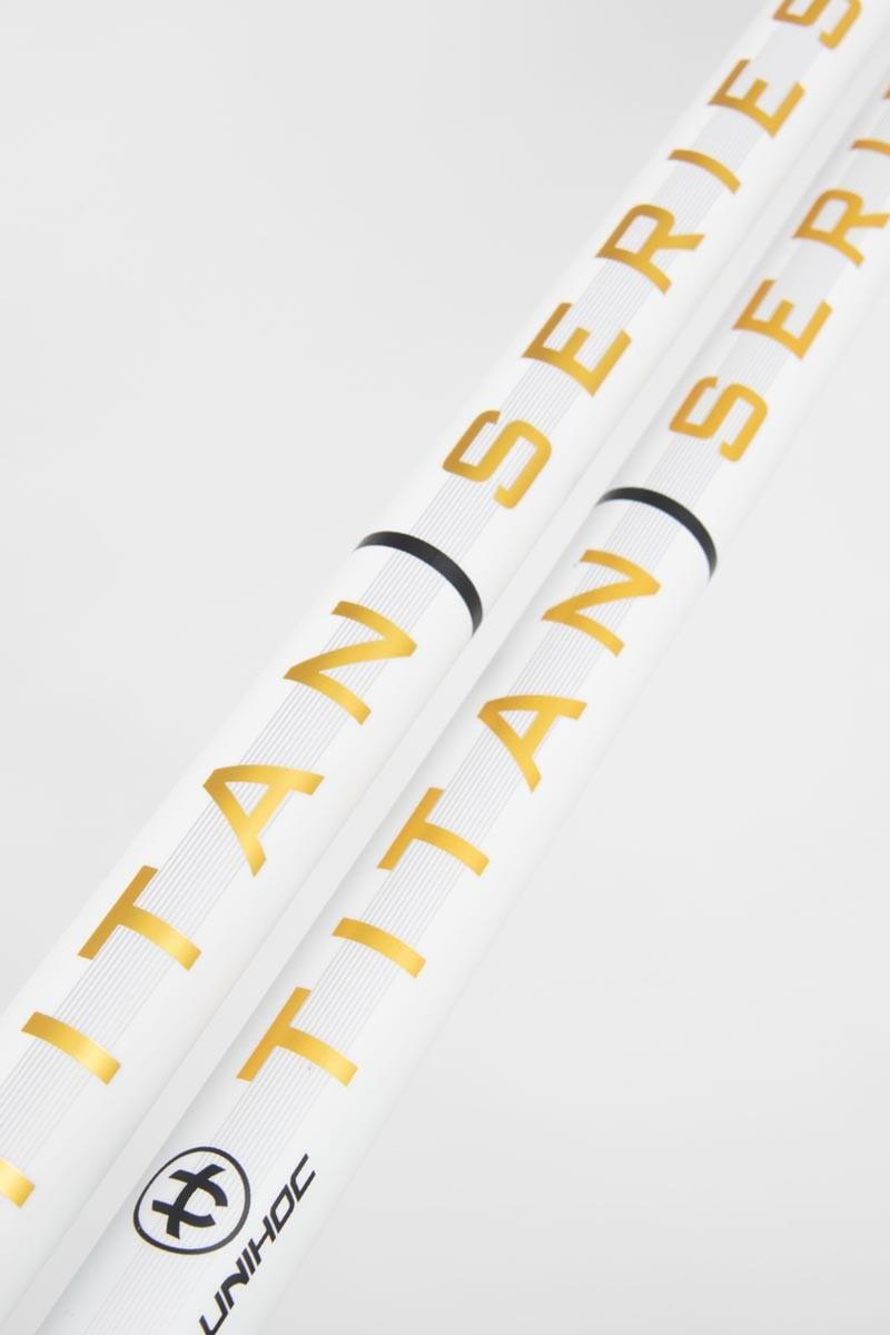 unihoc RE7 EPIC TITAN Superskin Pro 27 white/gold