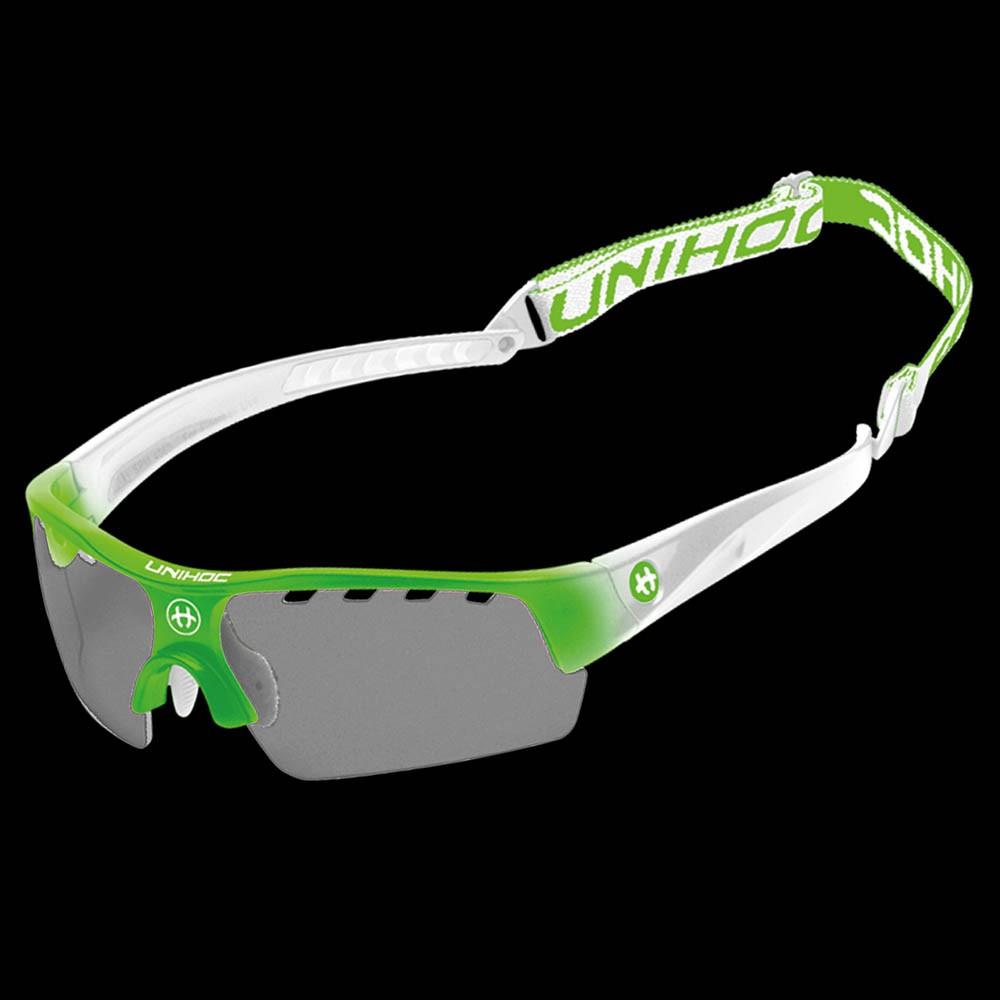 unihoc Sportbrille Victory Junior neon grün/weiss