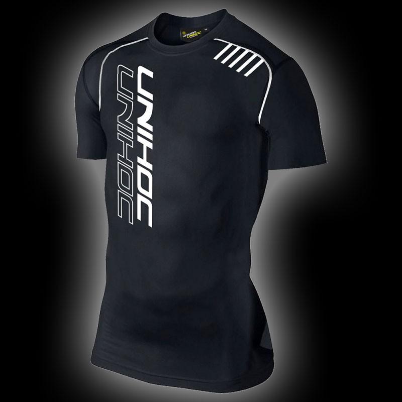 unihoc Compression T-Shirt schwarz