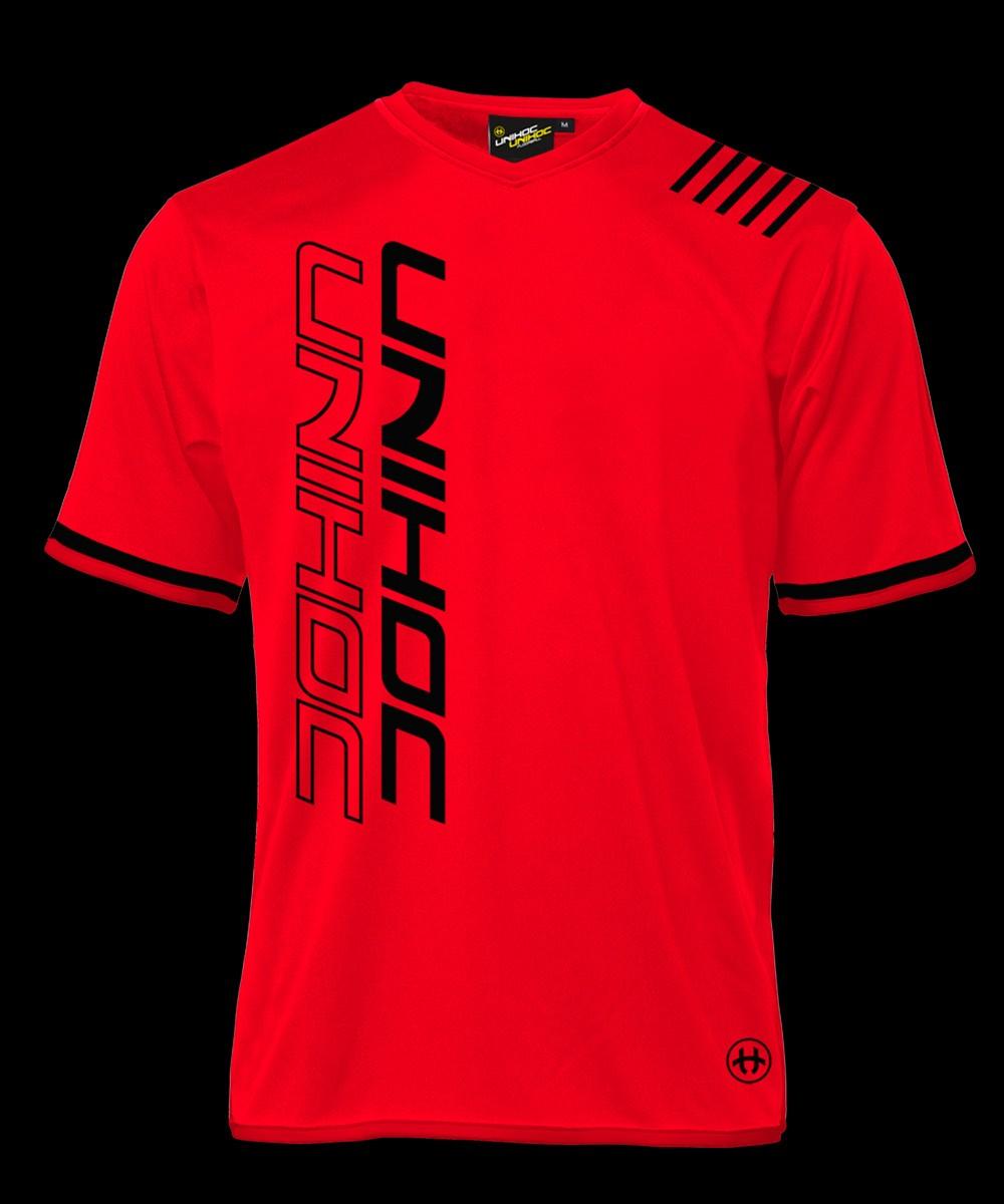unihoc Shirt Vendetta neon rot/schwarz