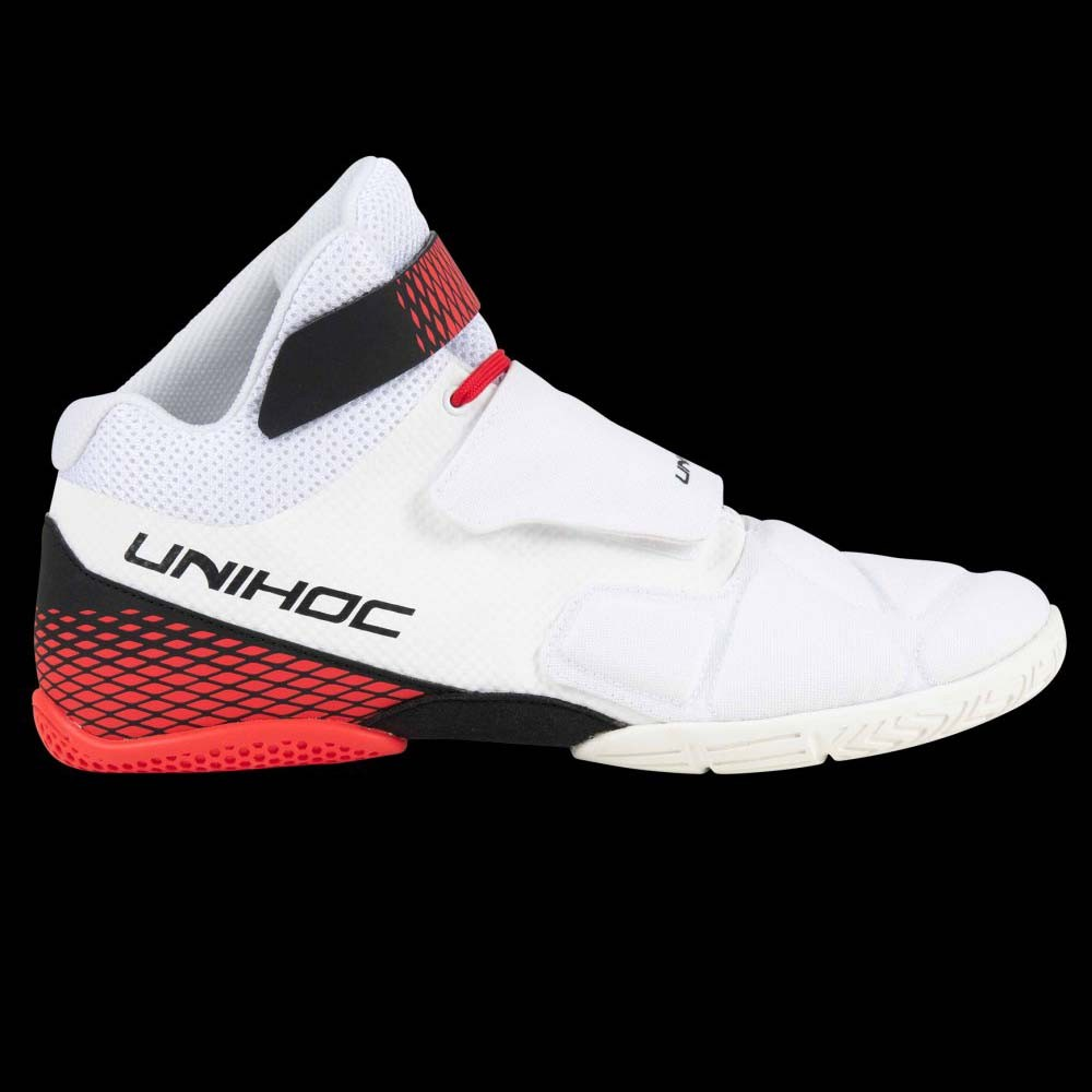 unihoc U4 Goalieschuh weiss/rot