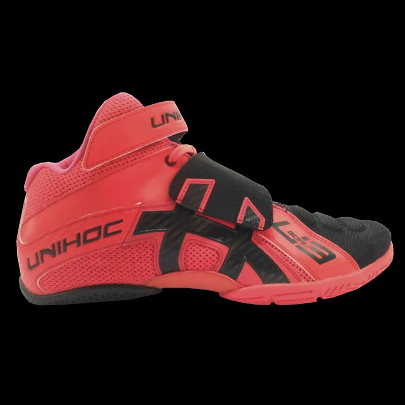 unihoc U3 Goalieschuh neon red/black