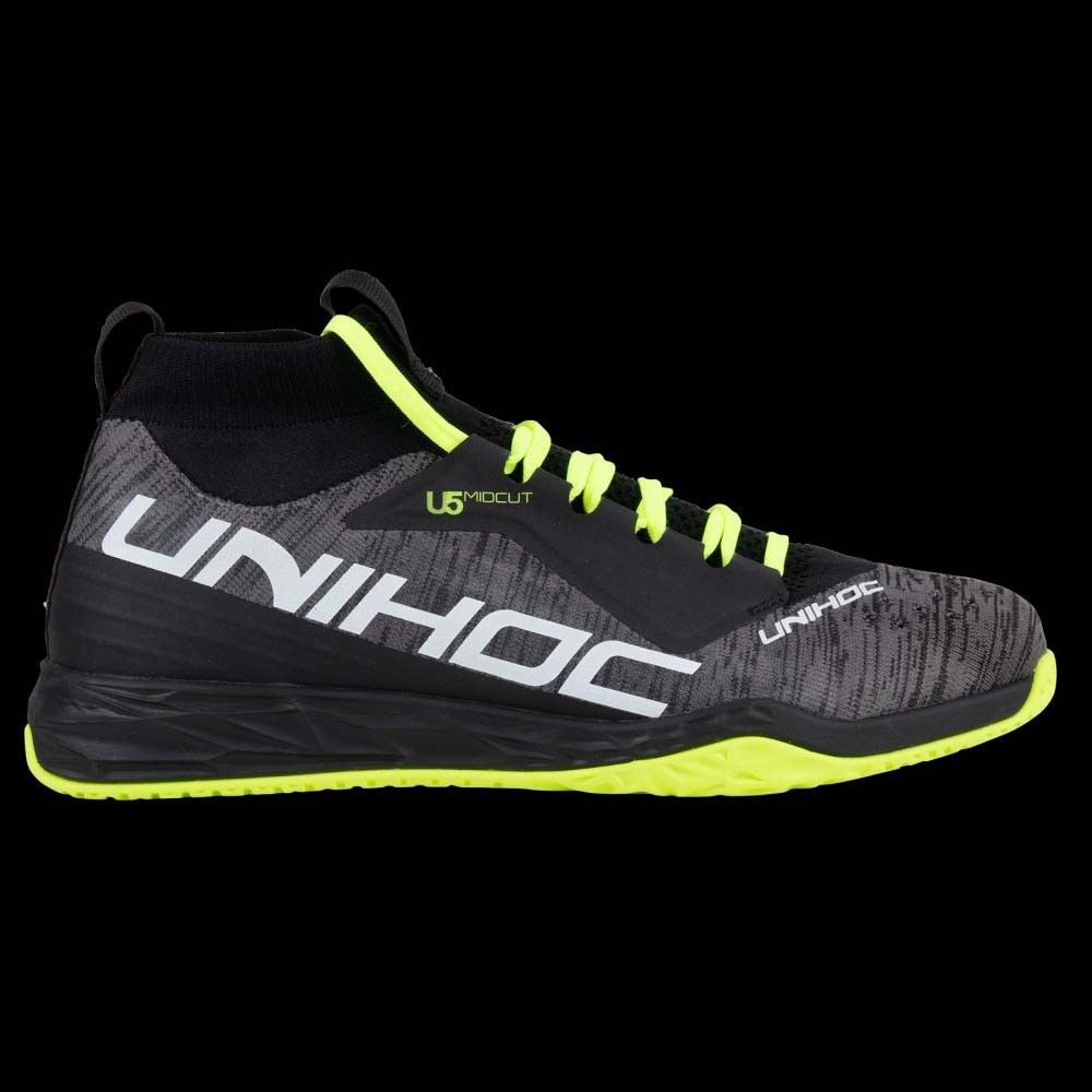 unihoc U5 PRO MidCut Men black/yellow