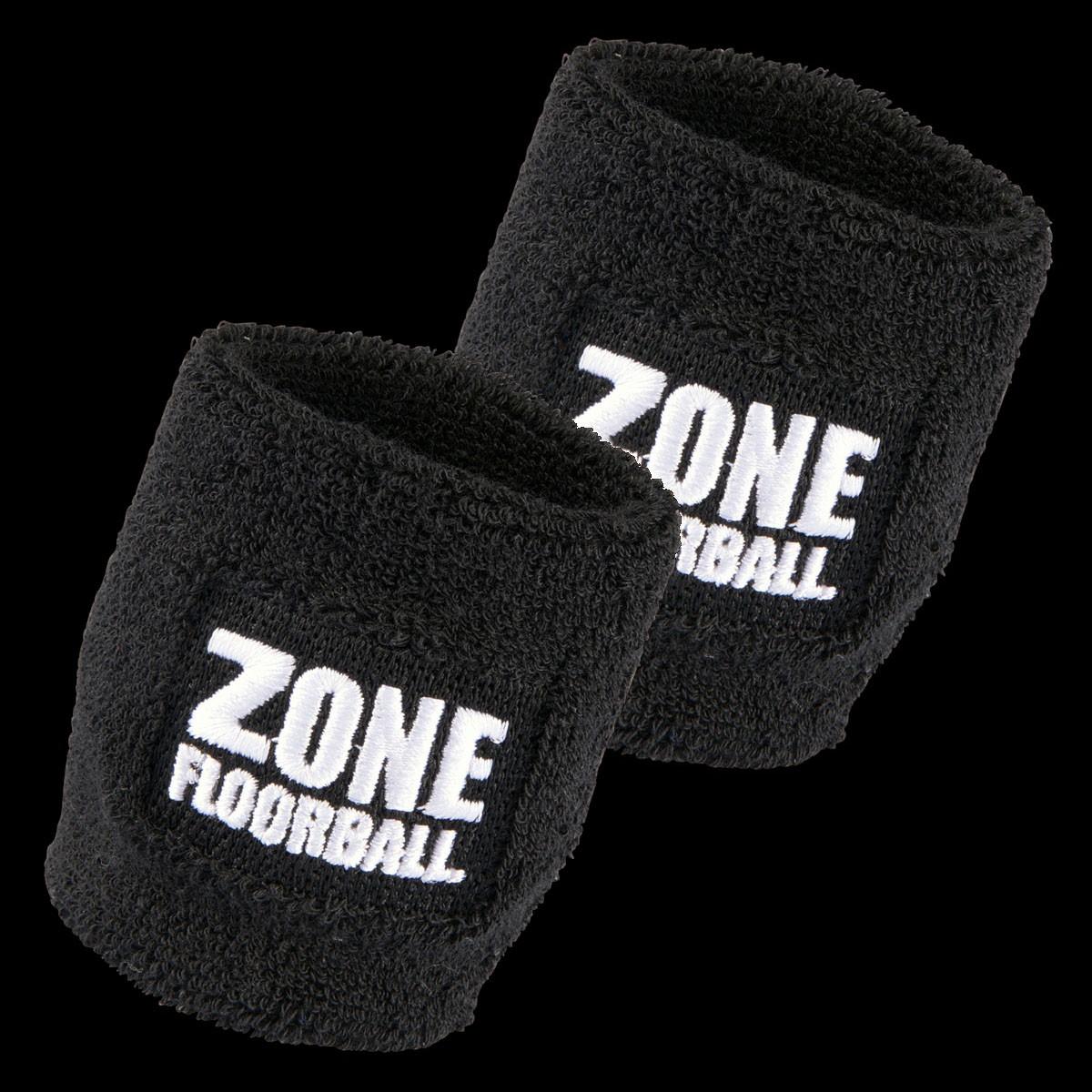 Zone Schweissband Retro schwarz (2-Pack)