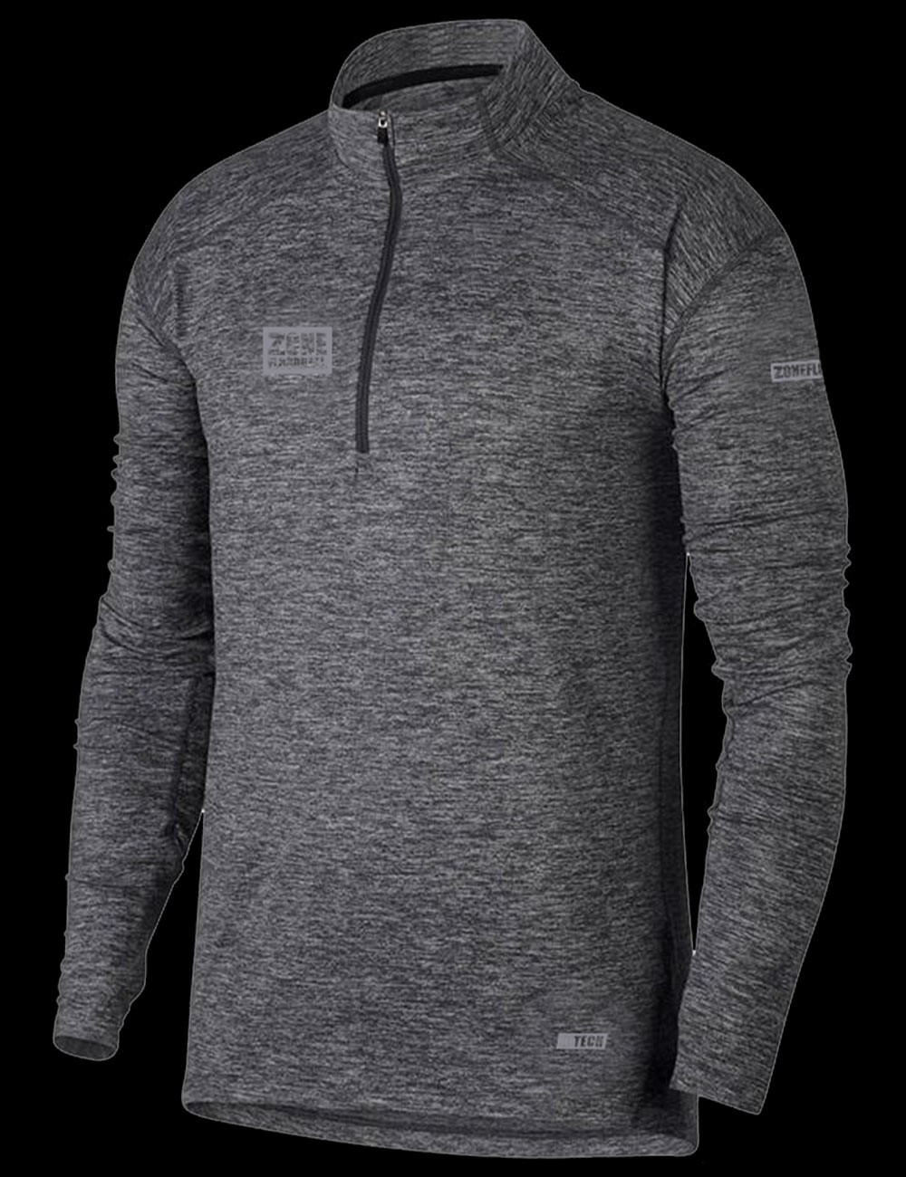 Zone Longsleeve Shirt Hitech dark grey