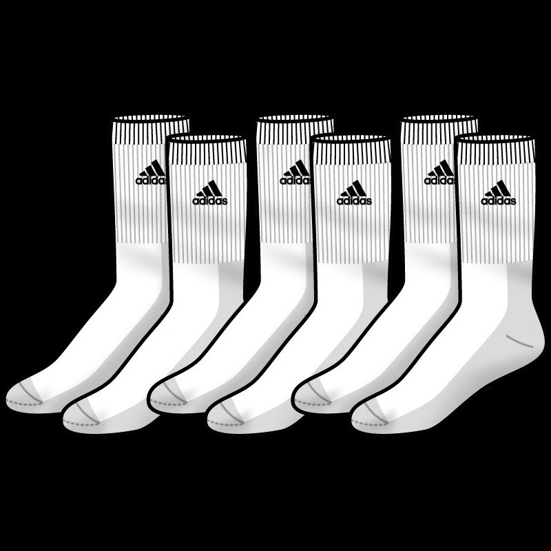 adicrew 3pp Sock white (3-Pack)