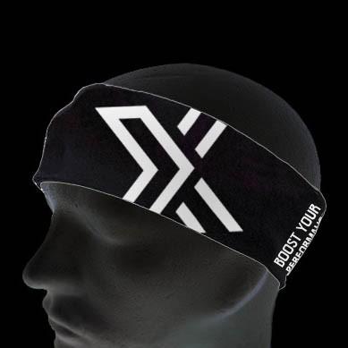 OXDOG Headband Bright black/white