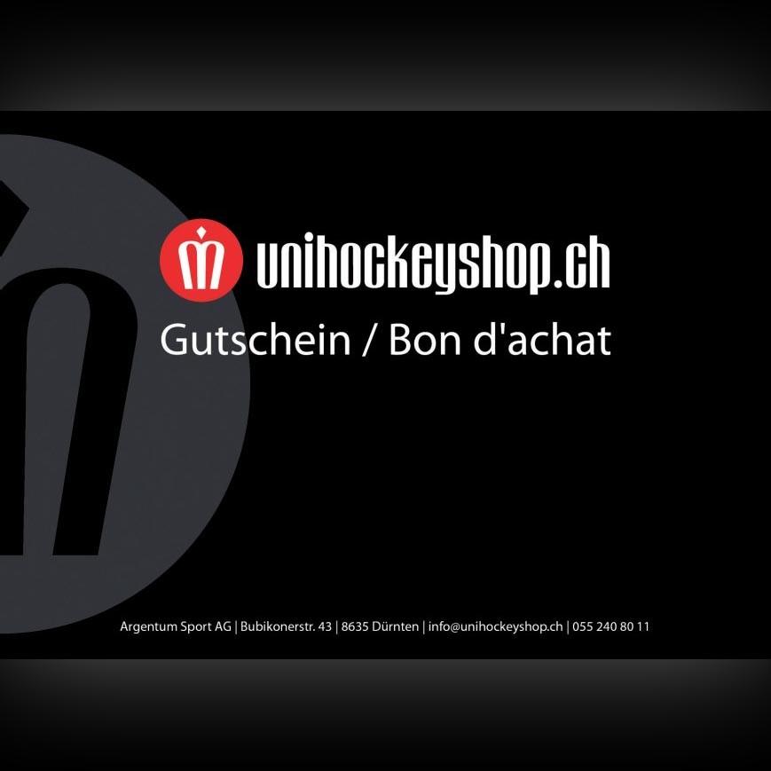 unihockeyshop.ch Gutschein 300 Franken