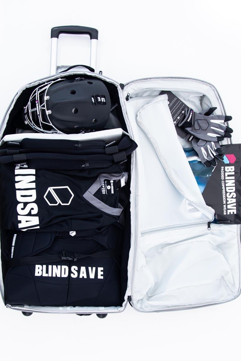 Blindsave Goalietasche mit Rollen