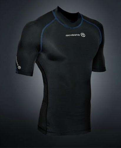 Rehband Compression Shortsleeve Top black