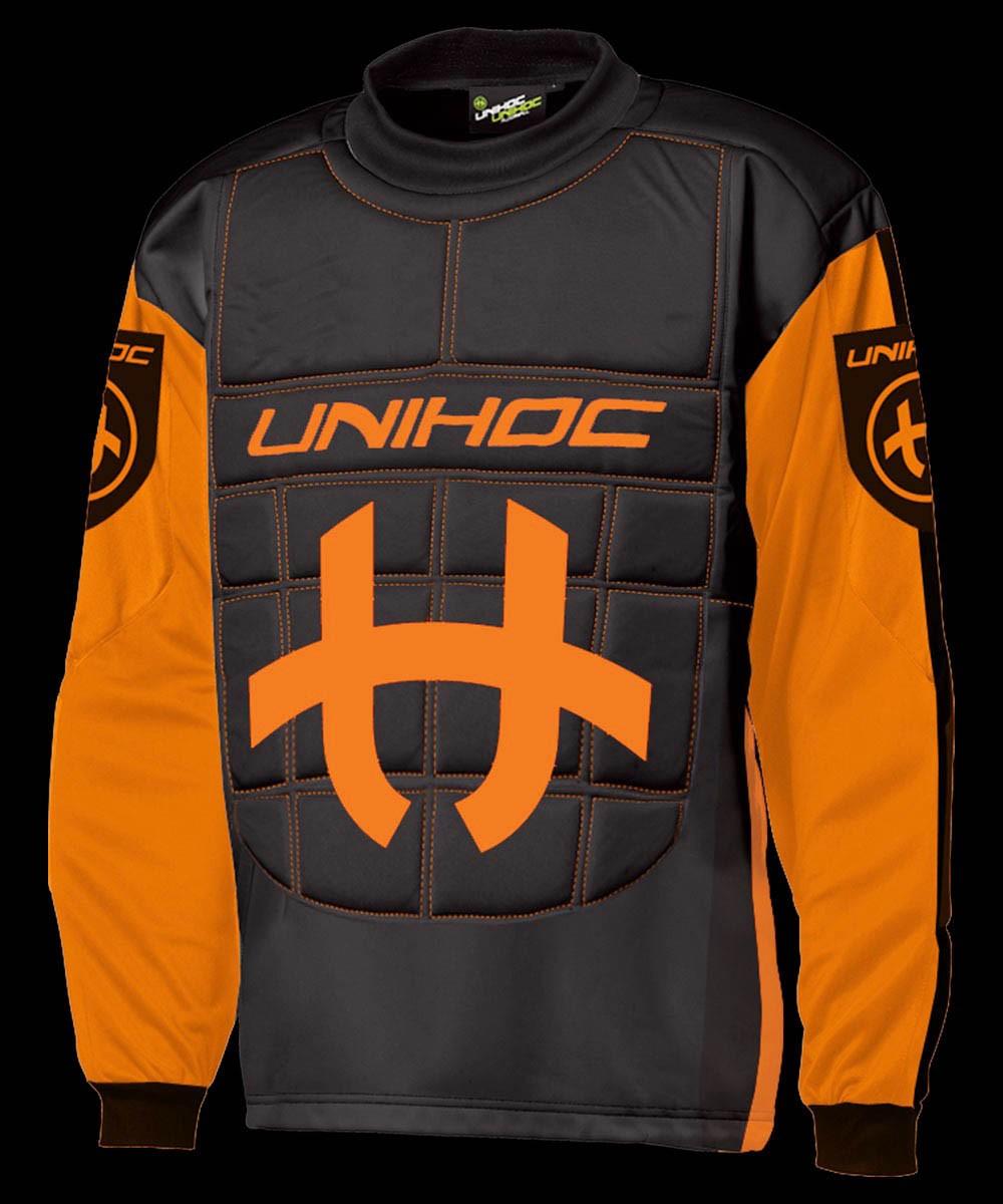 unihoc Torhüterpullover Shield Senior neon orange/schwarz