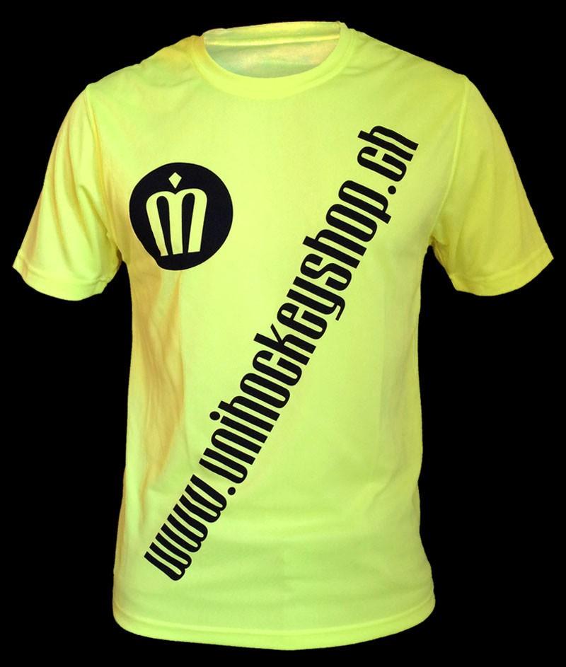 unihockeyshop.ch T-Shirt Badge Promo neongelb