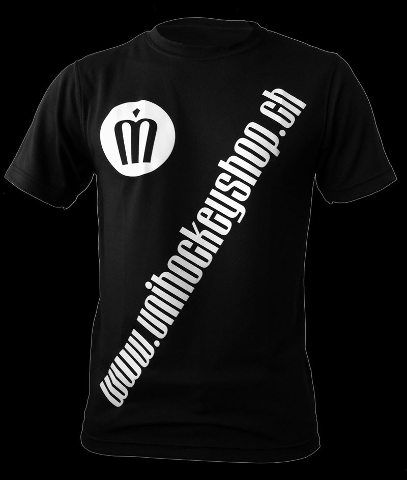 unihockeyshop.ch T-Shirt Badge Promo schwarz
