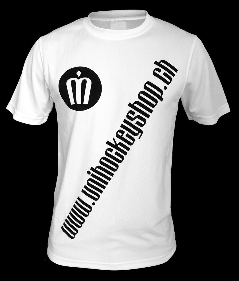 unihockeyshop.ch T-Shirt Badge Promo weiss