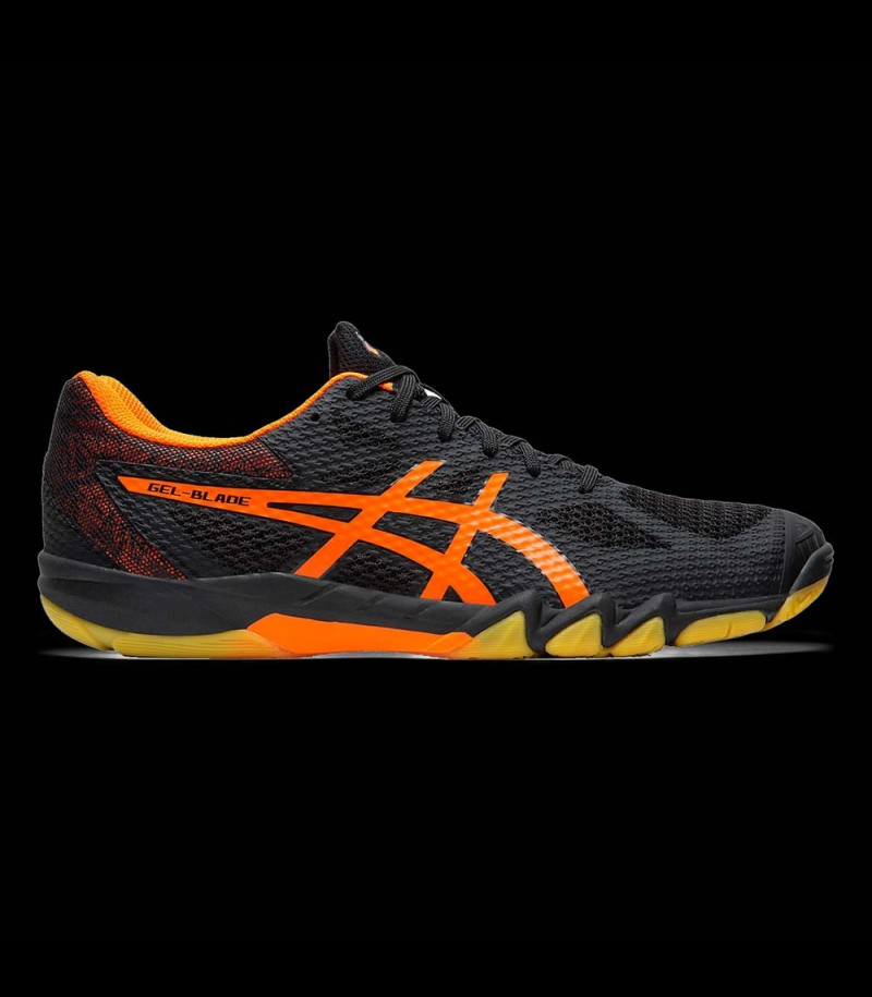 asics GEL-BLADE 7 black/shocking orange