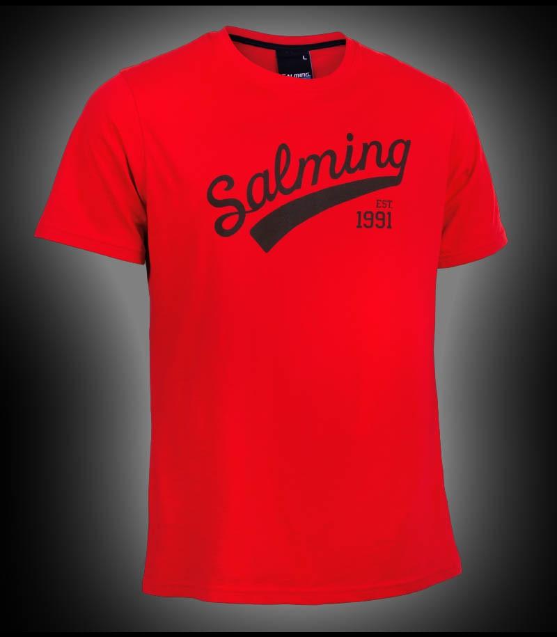 Salming Logo Tee Junior red