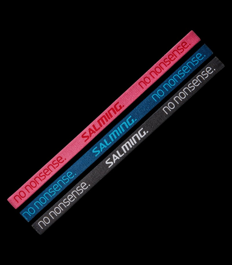 Salming Hairband pink/poseidon/iron (3-Pack)