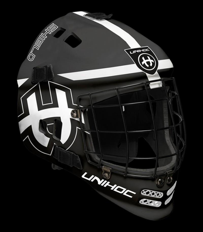 unihoc Torhütermaske Shield schwarz/weiss