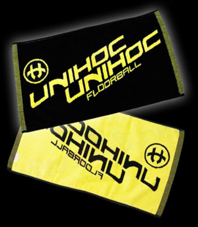 unihoc Handtuch black/yellow
