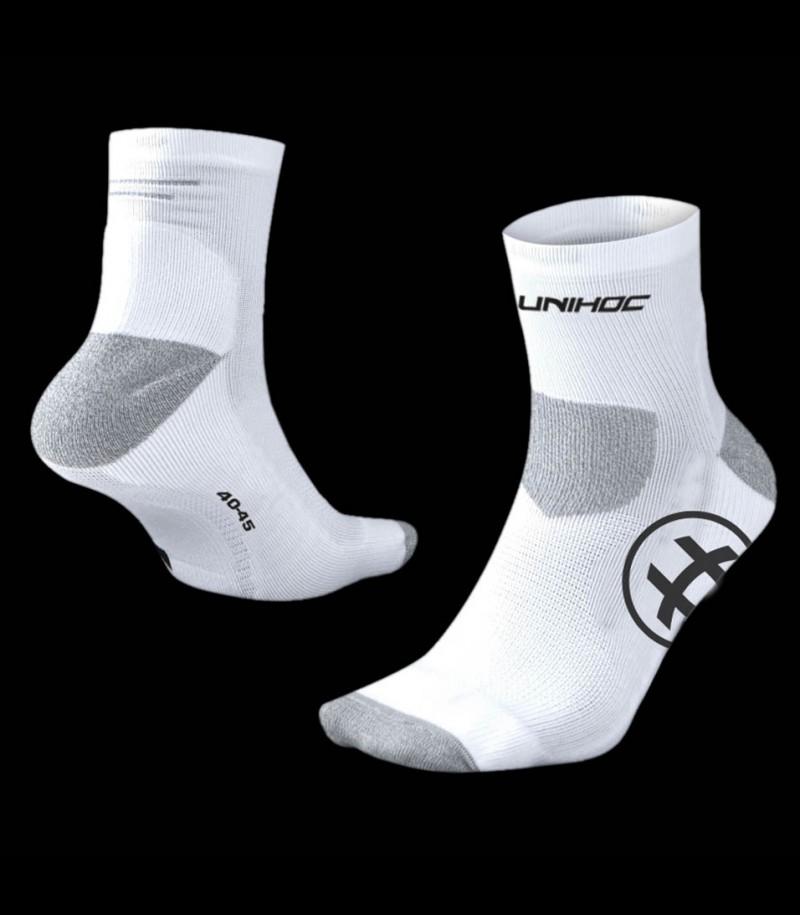 unihoc Socken Sprint weiss