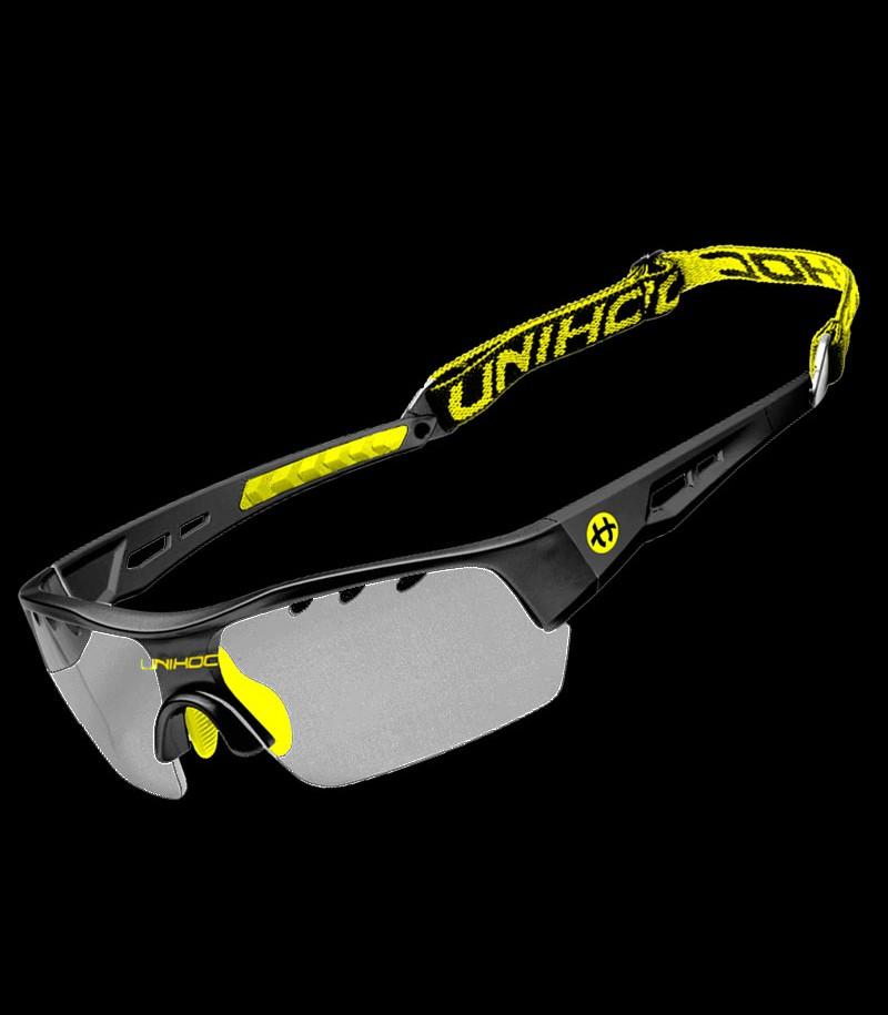 unihoc Sportbrille Victory senior schwarz/gelb