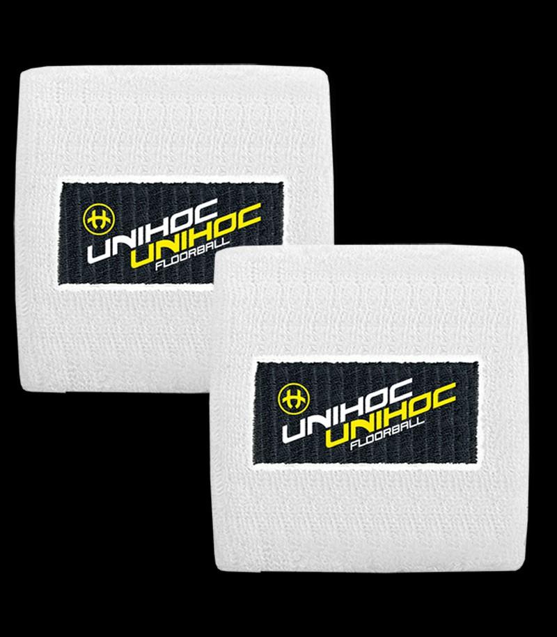 unihoc Schweissband Terrycloth white (2-Pack)