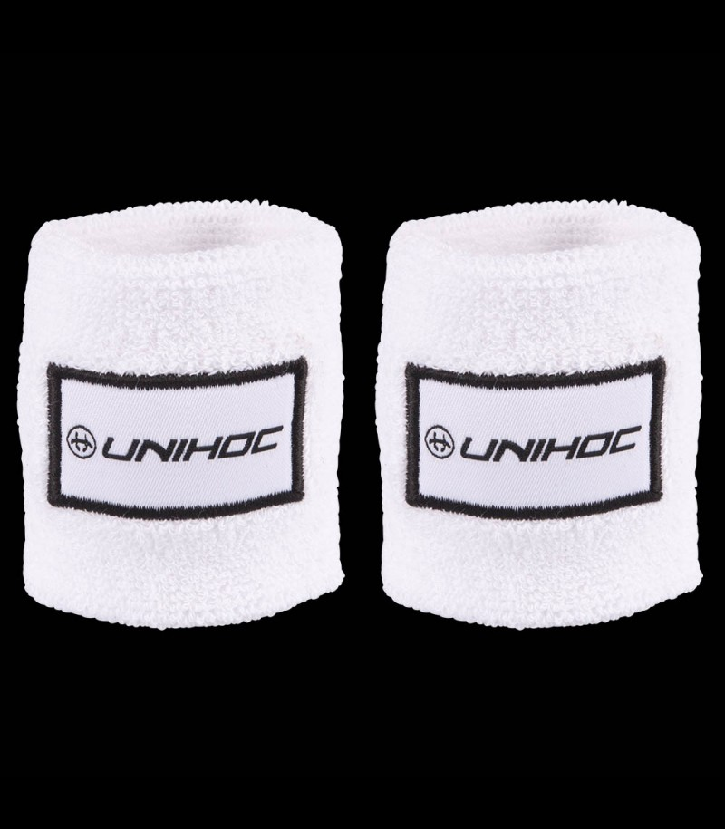 unihoc Schweissband Terry white (2-Pack)