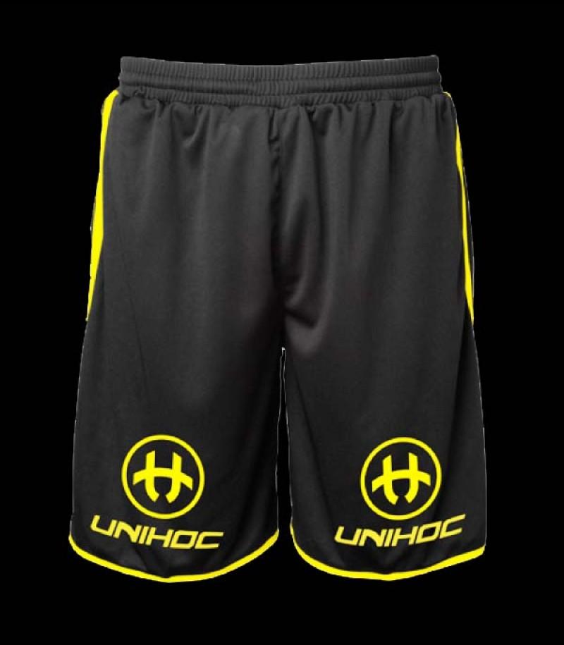 unihoc Shorts Dominate schwarz-gelb