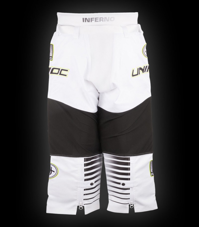 unihoc Goaliehose Inferno Junior weiss/schwarz