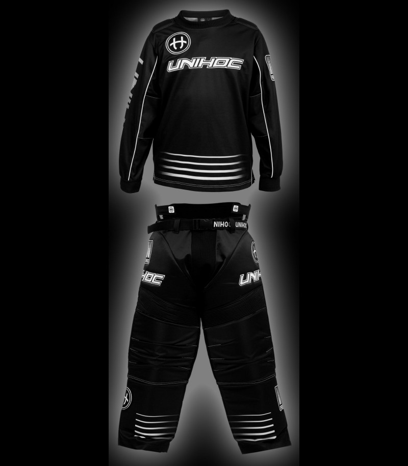 unihoc Goalieset Inferno Junior schwarz