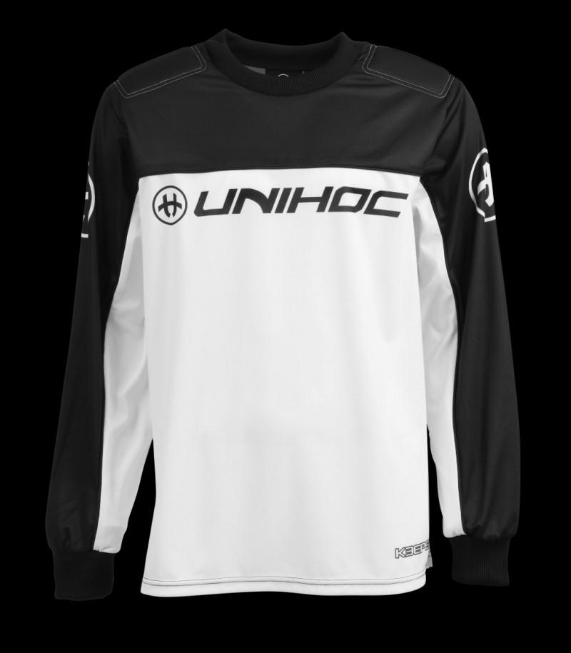 unihoc Goalieshirt Keeper Junior schwarz/weiss
