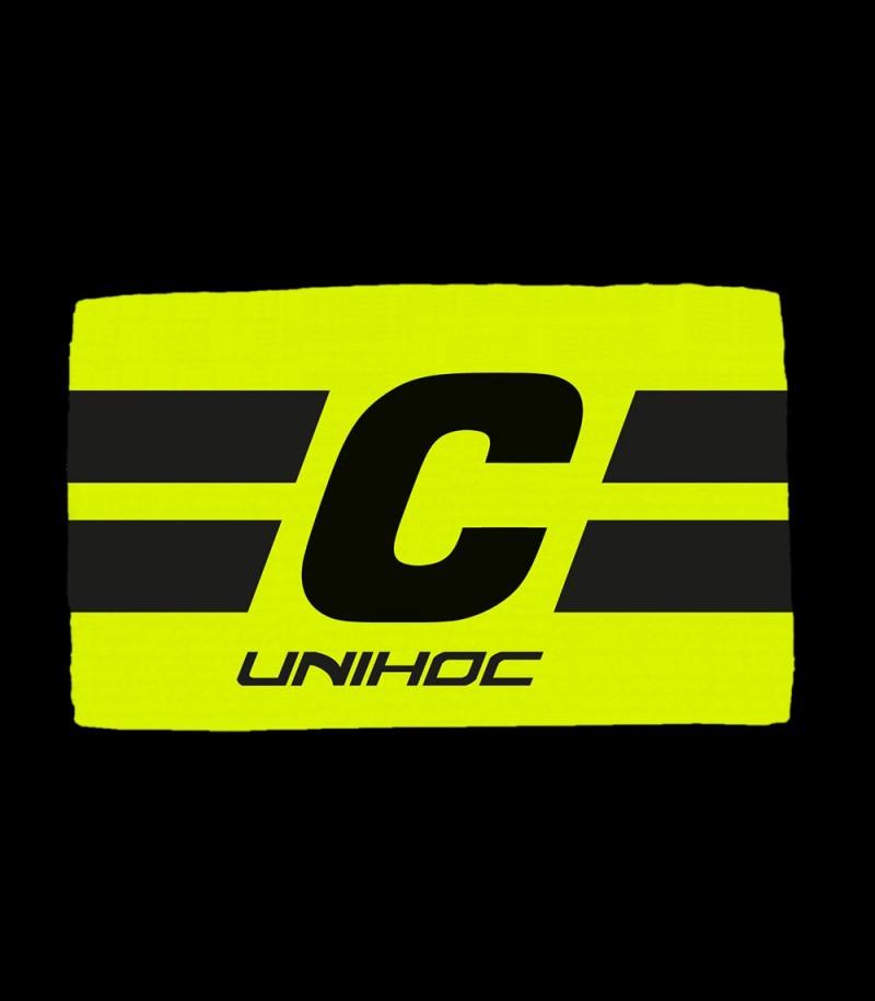 unihoc Captainbinde LEADER gelb/schwarz